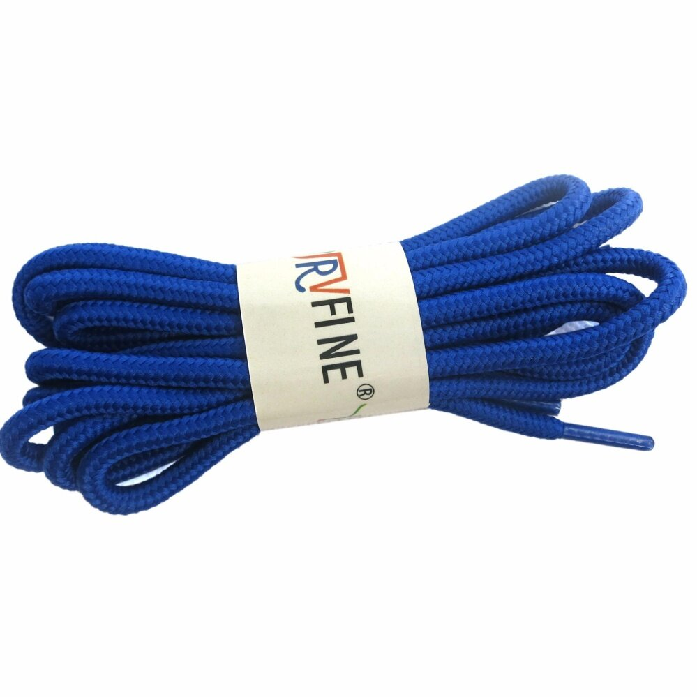YJRVFINE 1 Pair Premium Round Shoe Laces Strings Athletic Shoelaces Shoe Laces for Boots Sneakers Casual Shoes Shoelace Rope Sapphire Blue 120cm