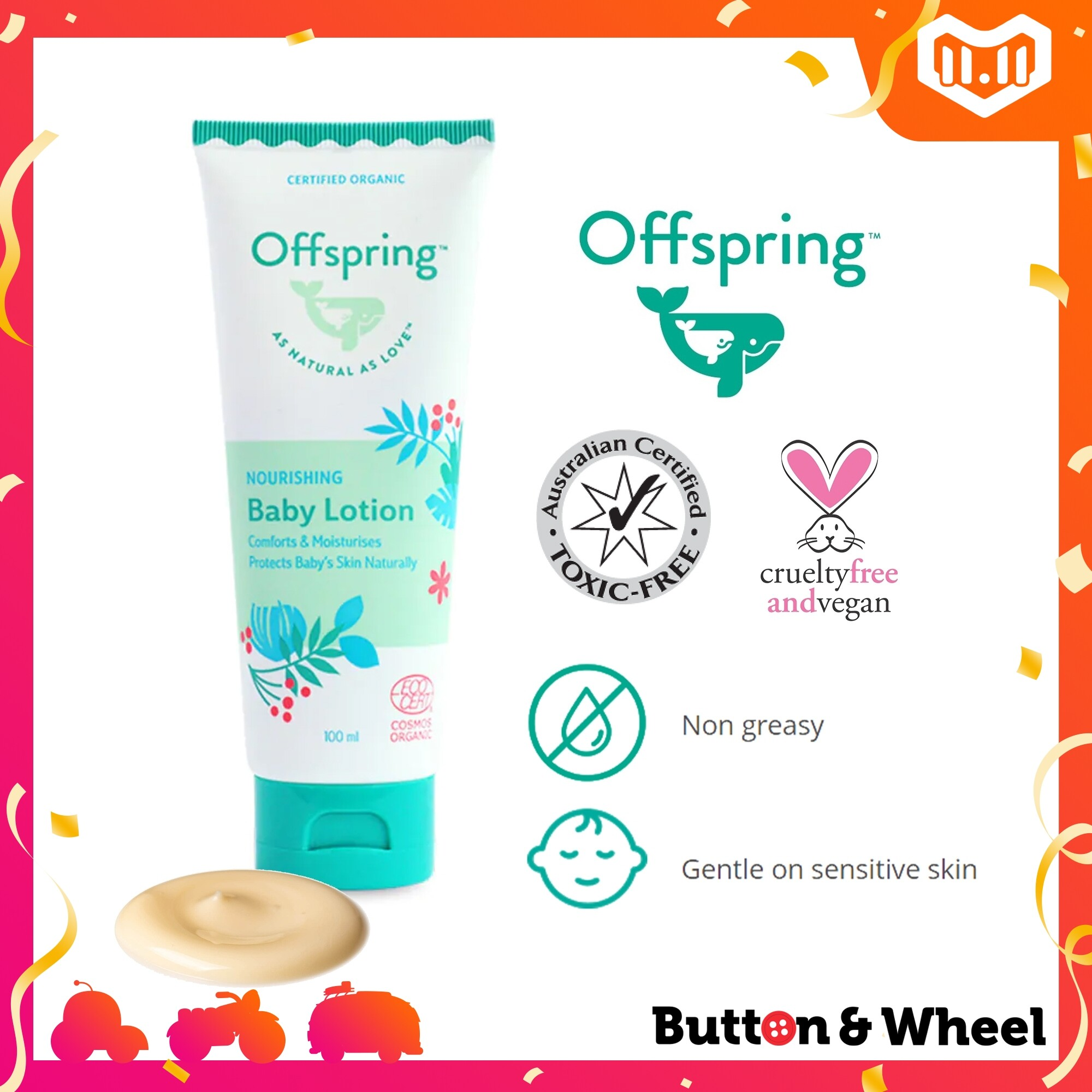 Offspring Nourishing Baby Lotion (100ml) (Expiry Date: 10/2021):OI-BE-BL-100ML
