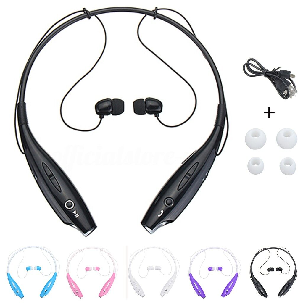 Mobile Audio Earbuds - WIRELESS Running Sports BLUETOOTH Headphones Head SET Stereo Earphone_3C - BLUE / PINK / PURPLE / WHITE / BLACK