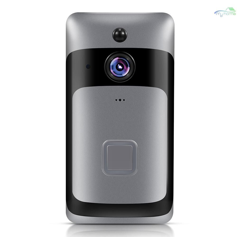 Security & Surveillance - Smart Home WiFi Doorbell 1080P HD Security Camera with Two-Way Audio PIR Motion Detection IR Night - SILVER