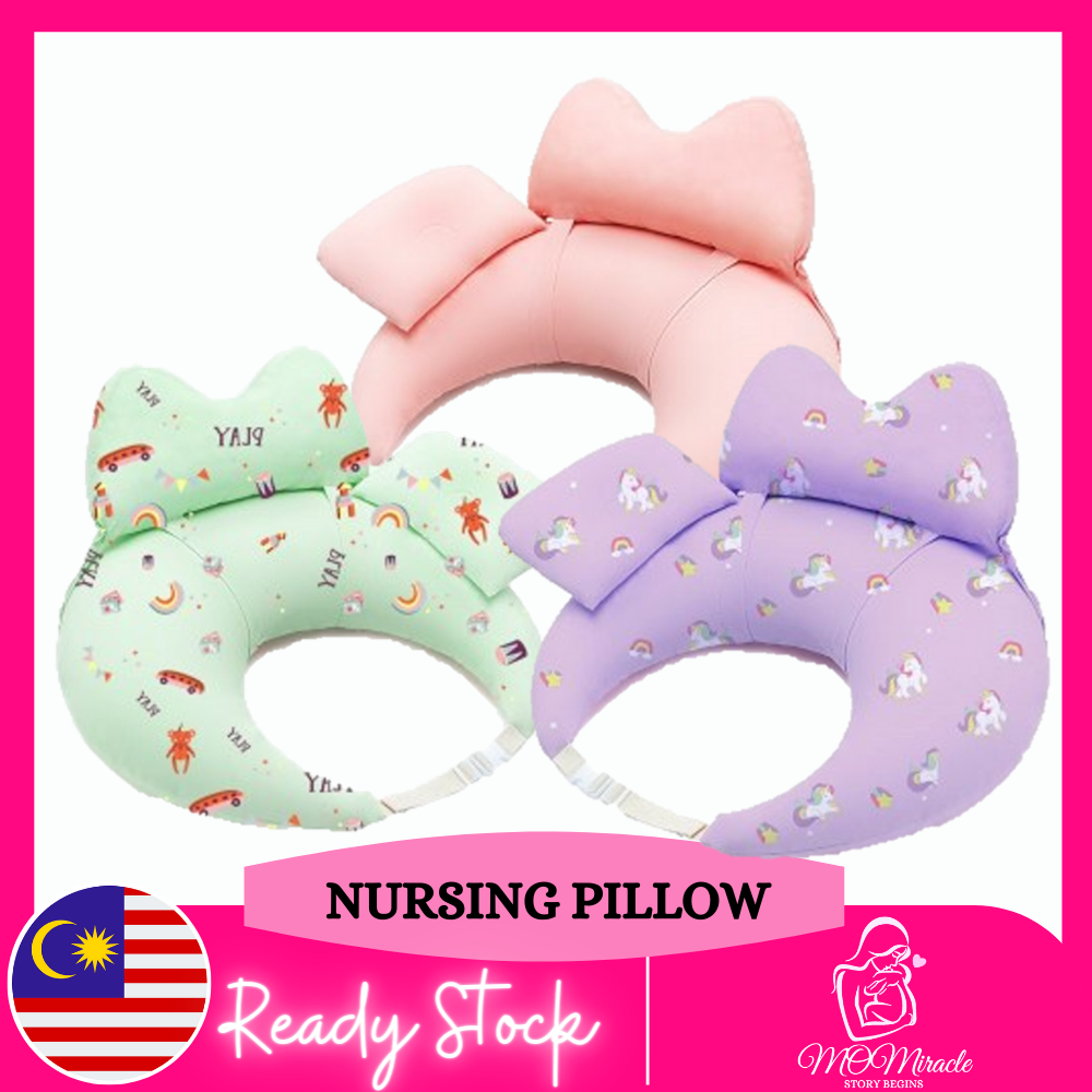 Nursing Pillows for Breastfeeding, 100% Pure Cotton Baby Nursing Pillows, Waterproof Baby Lounger Pillow with Detachable Headrest & Backrest Breast Feeding Pillows for Babies