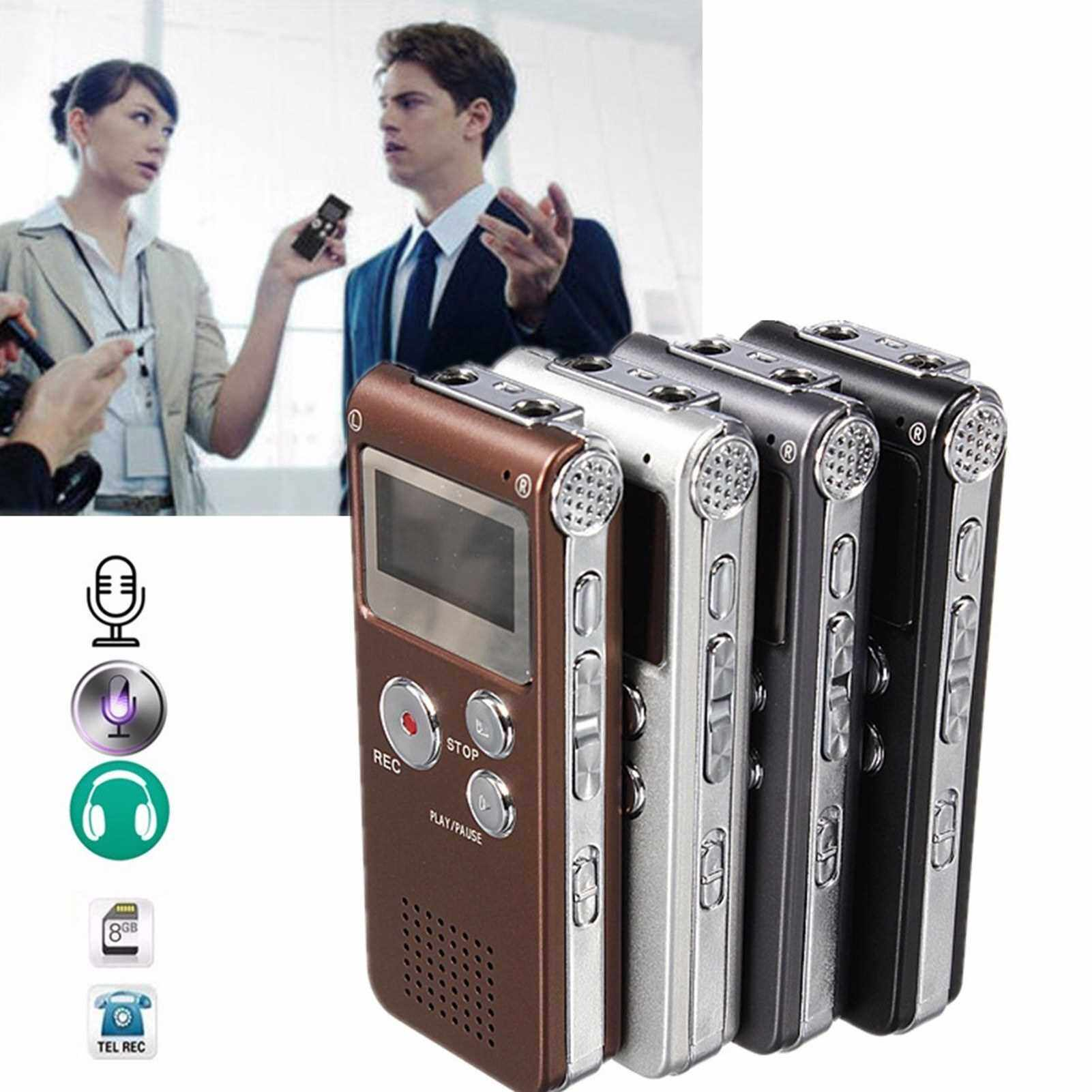 8GB Built-In Lithium Cell Digital Recorder Pen MP3 Music Player (Silver)