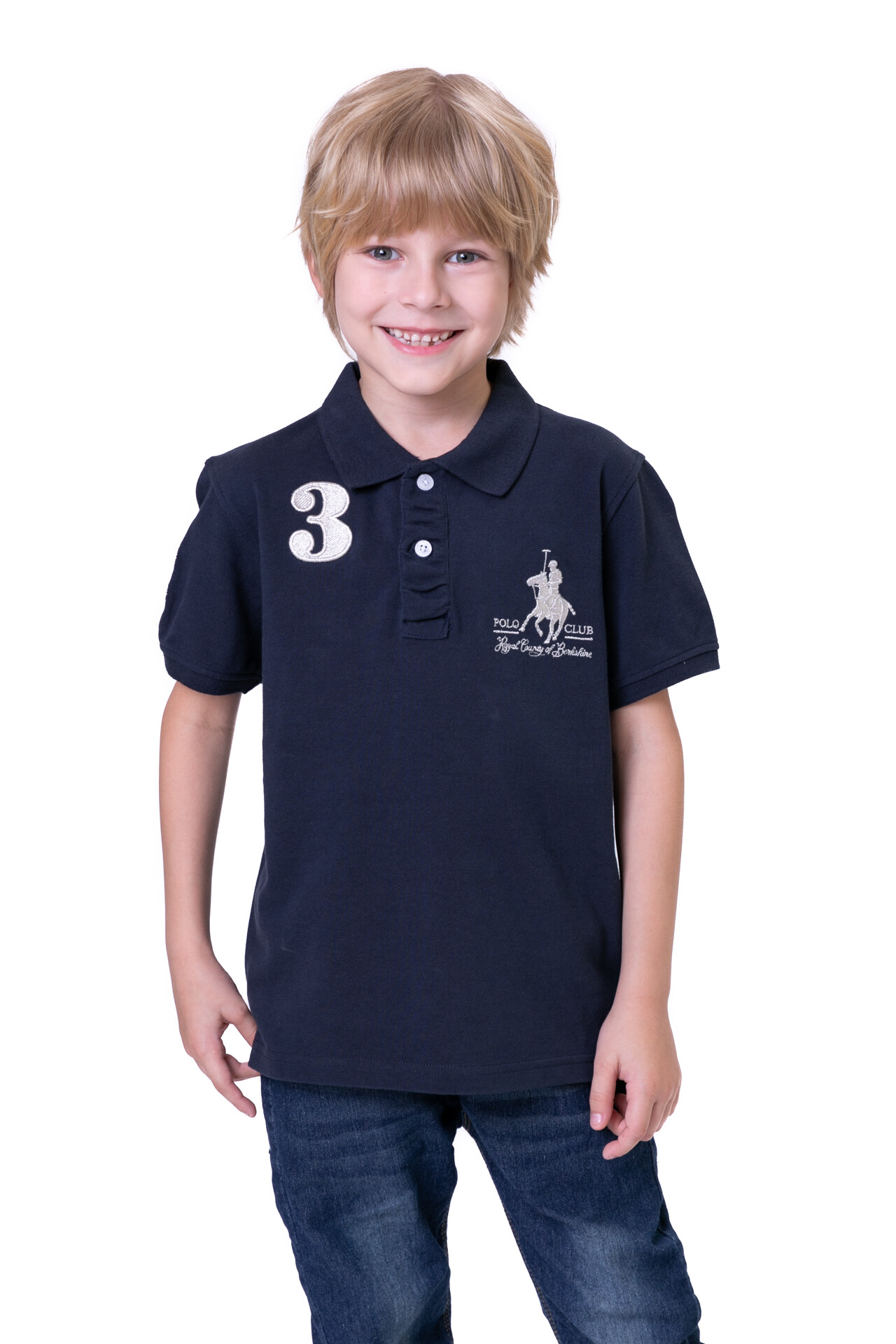 RCB POLO CLUB KIDS POLO TEE SOLID RBTS10443