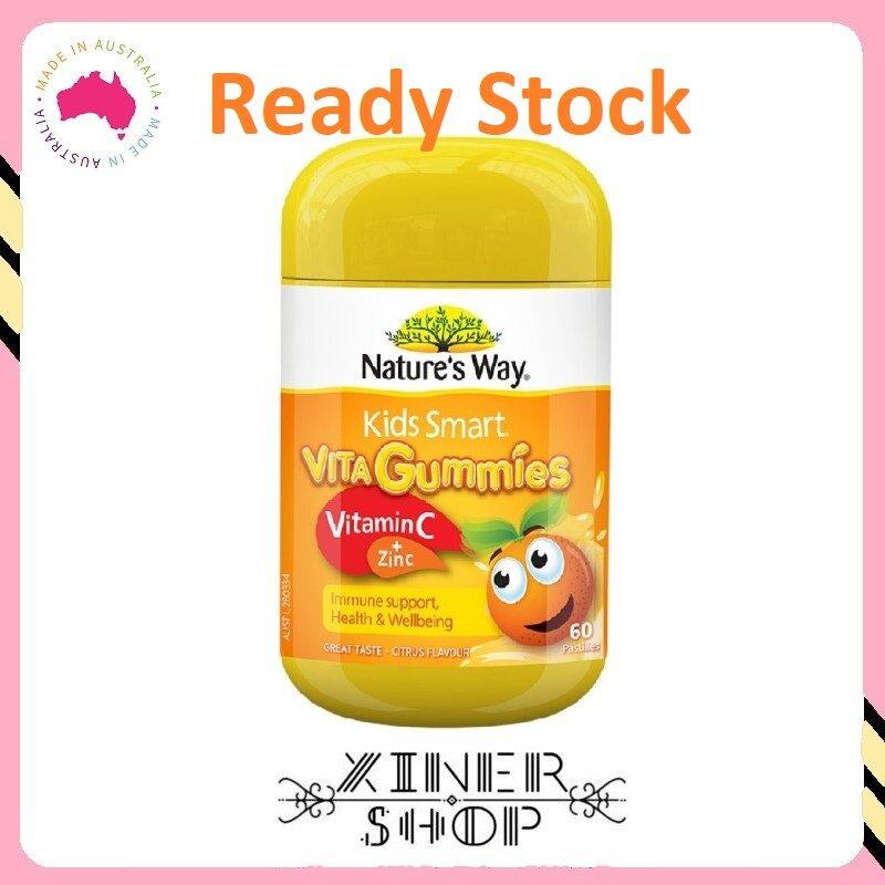 [Ready Stock EXP:08/2021] Nature's Way Kids Smart Vita Gummies Vitamin C + Zinc ( 60 Gummies ) (Made in Australia)