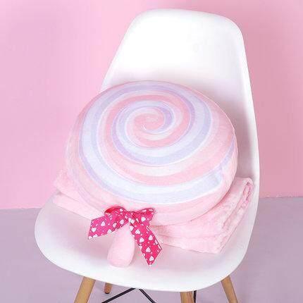 Lollipop Cute Pillow with blanket Warm Gift Warm hand pillow Soft Cushion