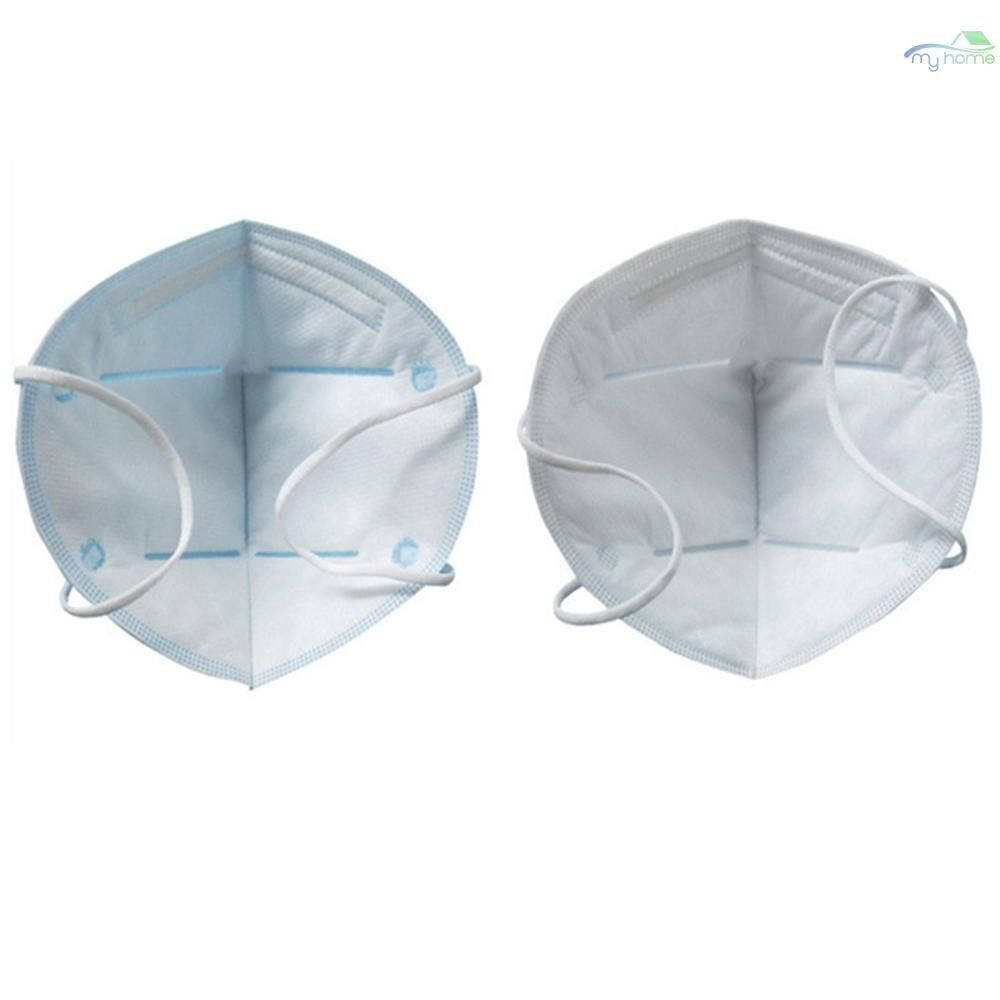 Protective Clothing & Equipment - 10 PIECE(s) Labor Protective Mask Anti Fog Haze PM2.5 Mask Vertical Folding Anti Dust Face Nose - BLUE / WHITE