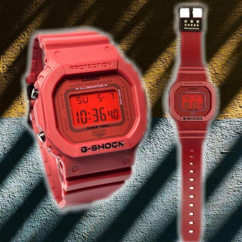 Red Anniversary_Casio_G_Shock_Digital Time Display Sports Design Shock Resistant 100m Water Resistant Watch For Unisex
