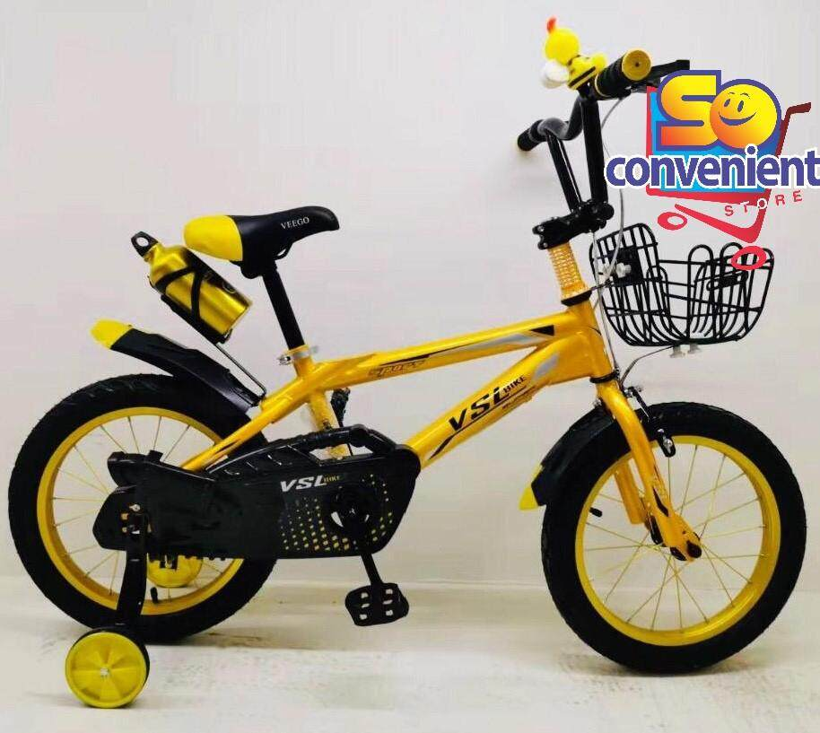 16  VSL Kids Bicycle 1612 with Alloy Rim and Basket and Bottle