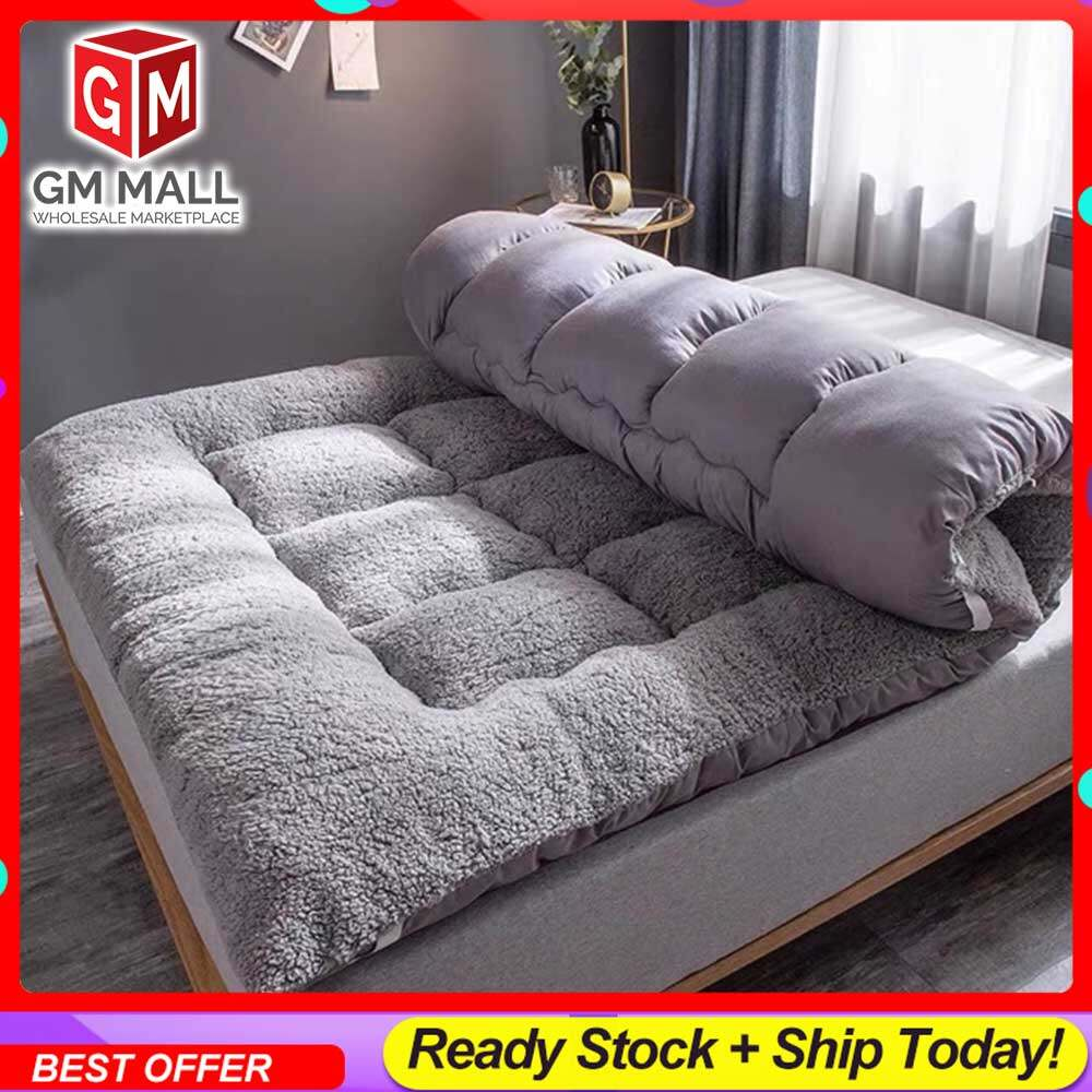 EXCLUSIVE HIGH QUALITY Queen/King Size Tatami GREY Solid Bed Mattress Topper Tilam Protector Bedding - Tilam Gebu Lembut BERKUALITI TINGGI (BT-GREY)