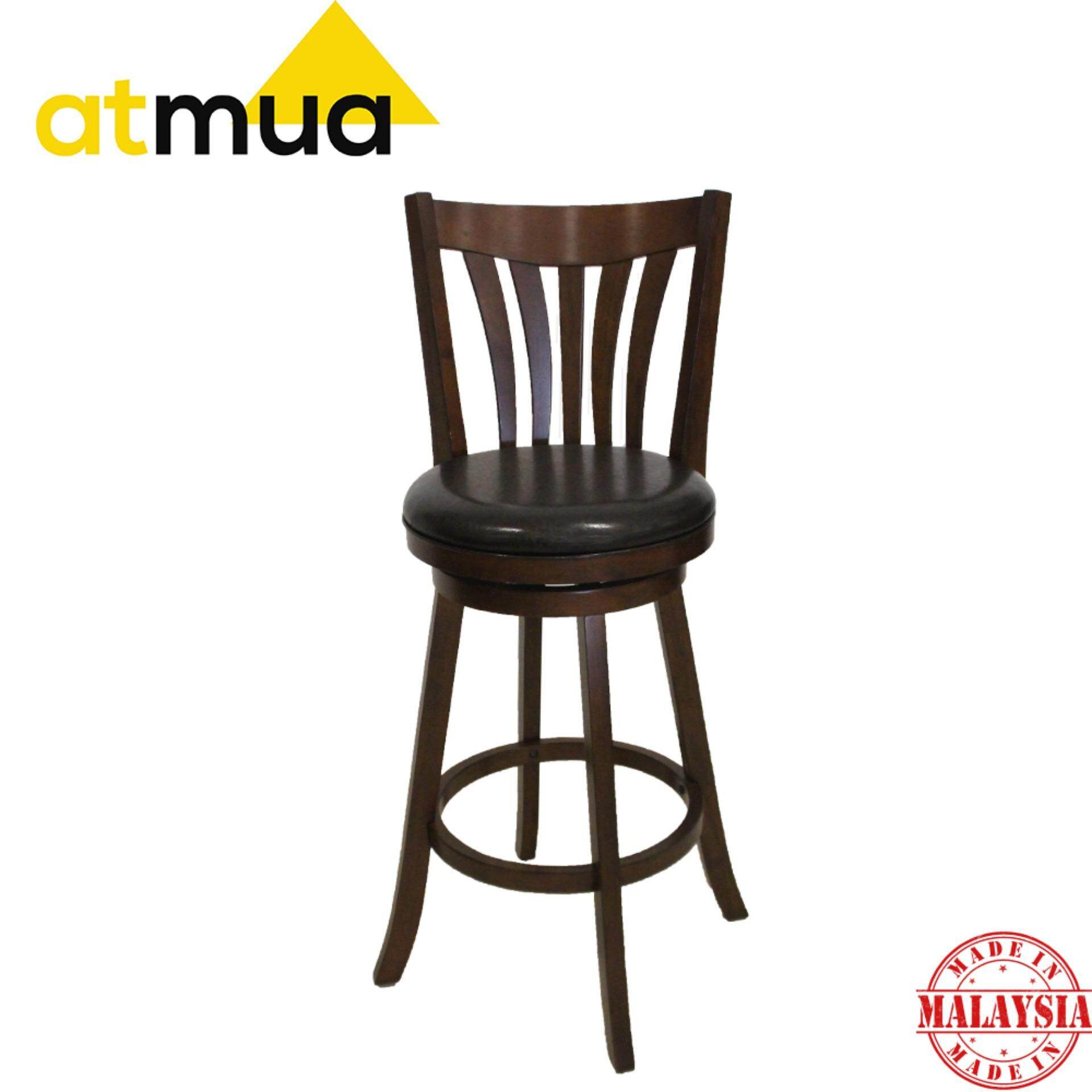 Atmua Camry Swivel Bar Chair 29 inch [Full Solid Wood]