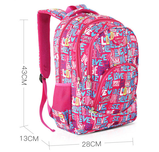 BAGGIE Large Capacity Primary Secondary Student School Backpack Bag