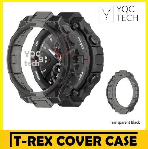 Amazfit T-Rex Clear Case Casing Cover (Transparent White/ Black)