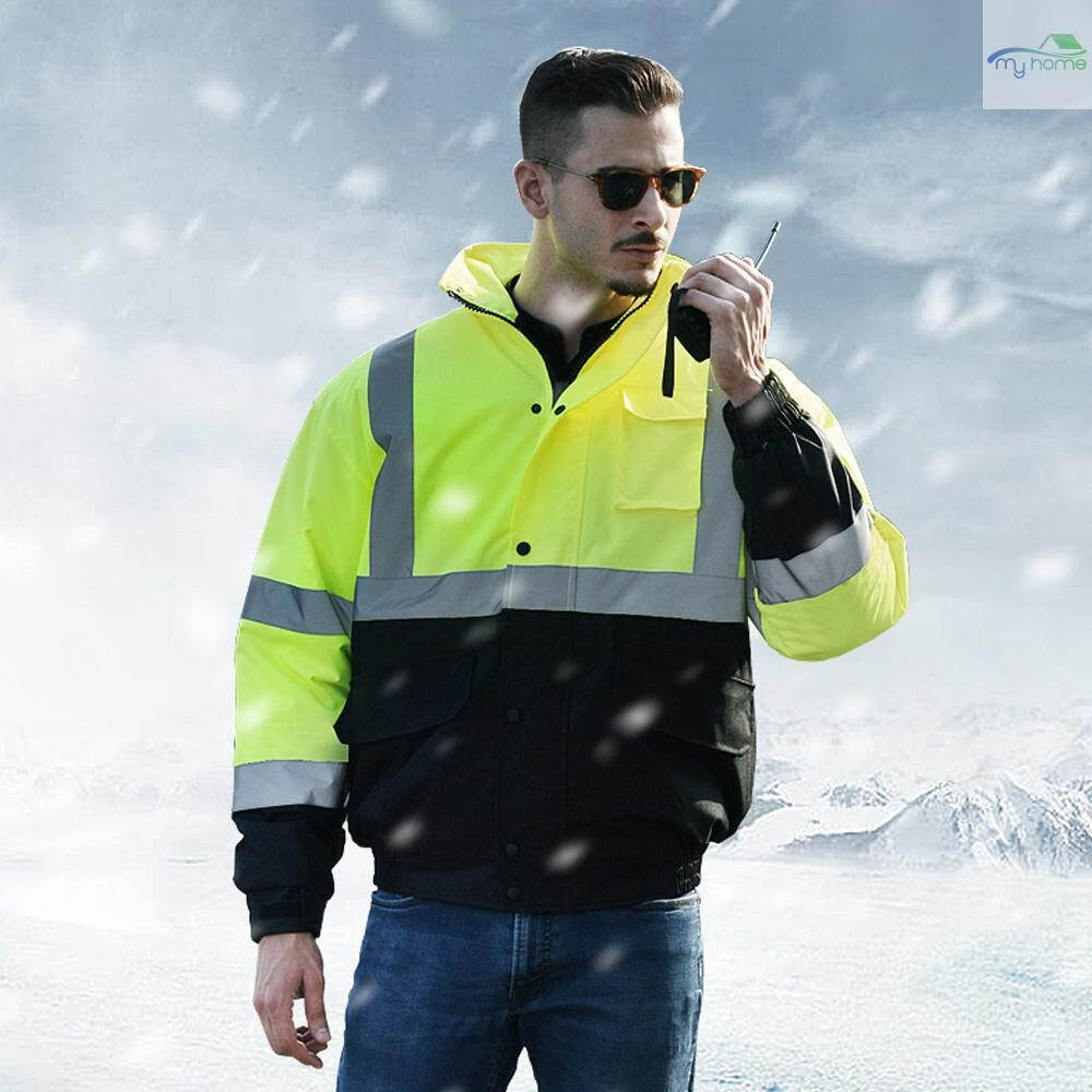 Protective Clothing & Equipment - SFVest High Visibility Reflective Cotton Coat Waterproof Rain Jacket Luminous Safety Outdoor - XL / L / M