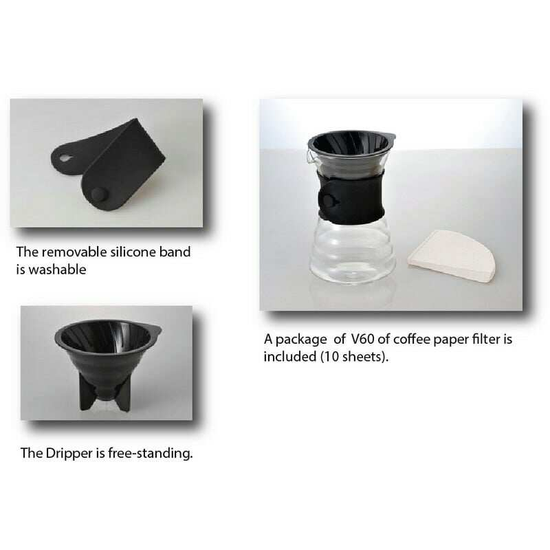 Hario V60 Drip Decanter Coffee Maker - 700ml