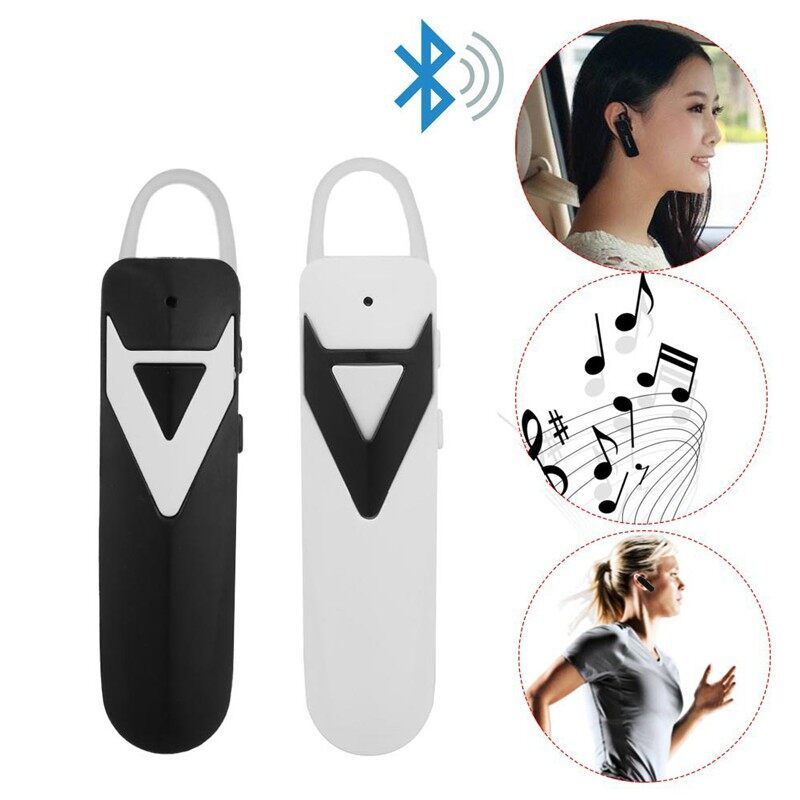 QAV Car WIRELESS BLUETOOTH Earphones MINI Hanging Ear BLUETOOTH Head SET - BLACK-WITH OPP BAG / BLACK-WTIH BOX / WHITE-WITH OPP BAG / WHITE-WTIH BOX