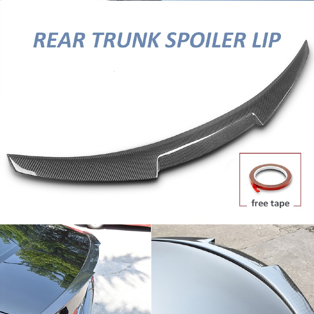 Car Lights - For Audi A6 C7 Sedan Quattro 13-16 Real Carbon Fiber Trunk Spoiler Wing M4 Style - Replacement Parts