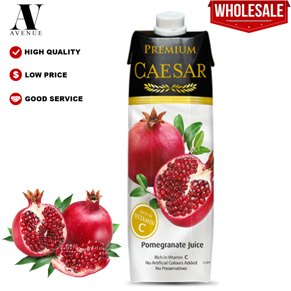 Caesar juice Pomegranate 1L Tetra Pack عصير سيزر رمان كرتون