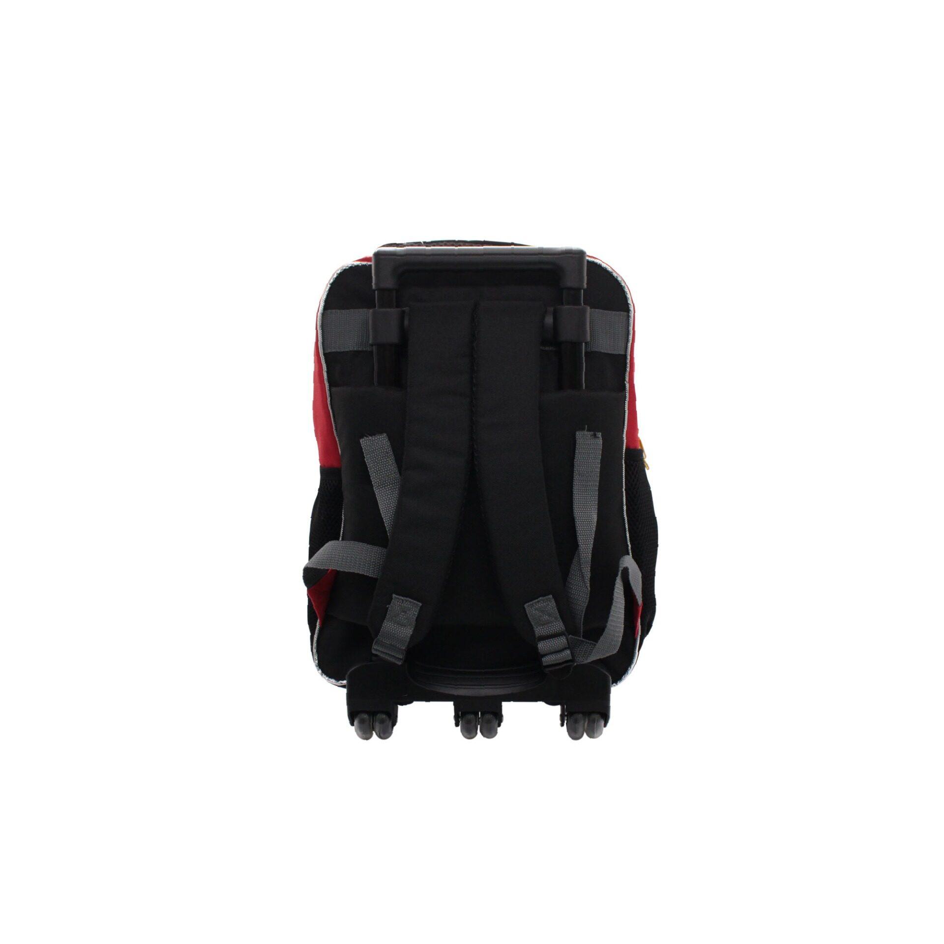 Boboiboy Fusion Kuasa 3 Kids Boys Pre School Trolley Bag With 2 Wheels & Handle (Black & Yellow)