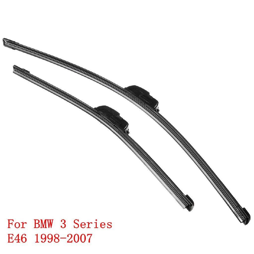 Windscreen Wipers & Windows - Front Pair Windscreen Wiper Blades 22''+19'' SET For BMW 3 Series E46 - Car Replacement Parts