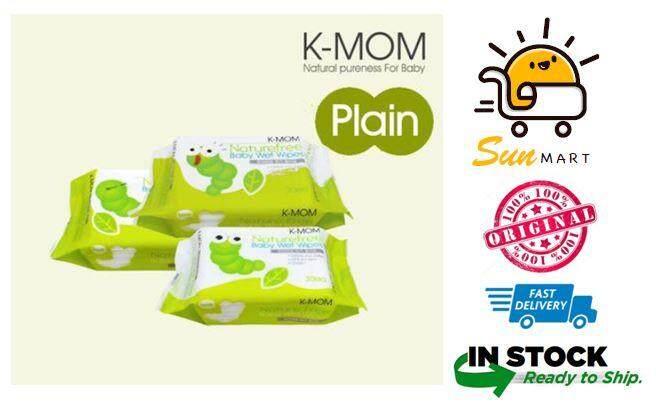 K-Mom Organic Premium Portable Baby Wet Wipes 30pcs x 3packs