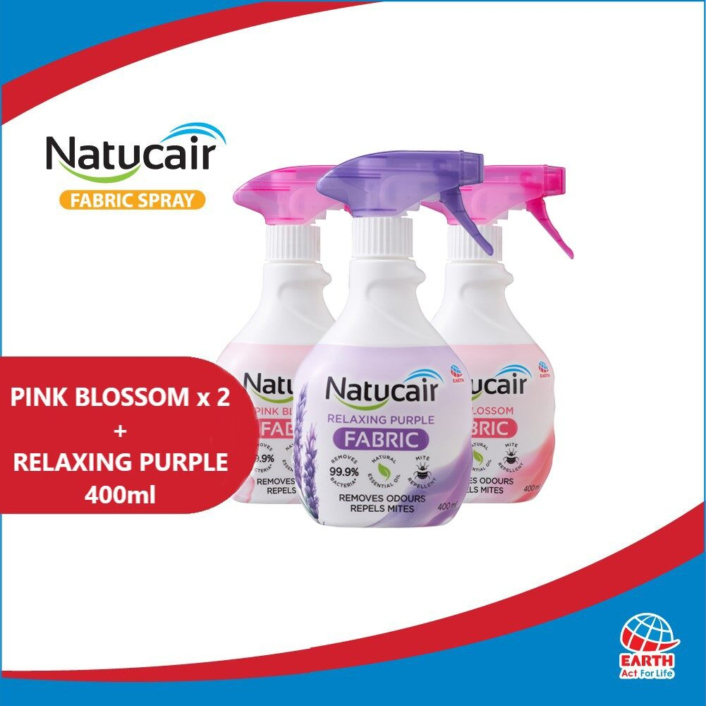 Natucair Fabric Spray Assorted Variants Bundle of 3 [400ml x3]EHB000012d