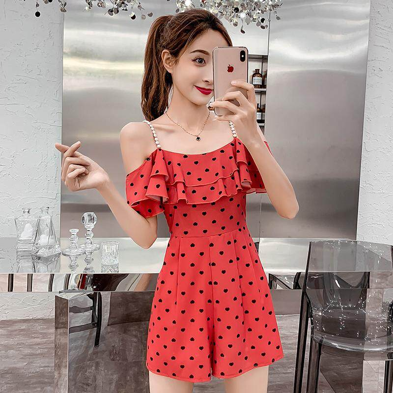 (Pre Order14 Days JYS Fashion Korean Style Women CNY Festive Red Jumpsuit Collection -5264644col526-4644--red-M