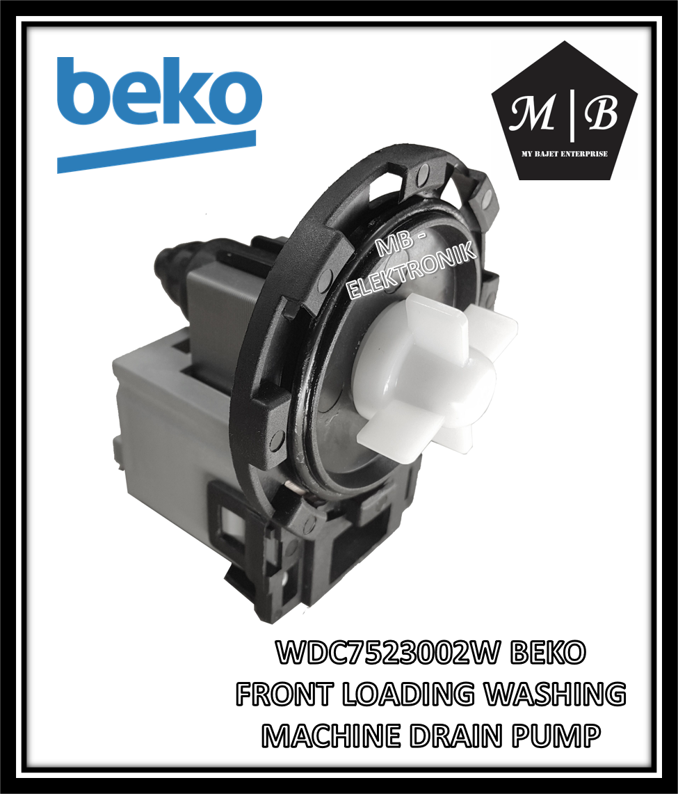 BEKO FRONT LOADING WASHING MACHINE DRAIN PUMP WDC7523002W WME7267S WME7247S WM7147S WM6167S