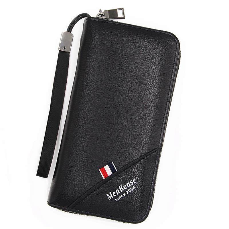 [M\'sia Warehouse Direct] 2019 Korean Series Men\'s Leather Clutch Bag With String Multipurpose Fengshui Long Wallet Long Purse Perfect Gift For Father And Husband Handcarry Can Fit Iphone Any Android Mobile Portable Bag Card Hold Dompet Panjang Kulit Halal