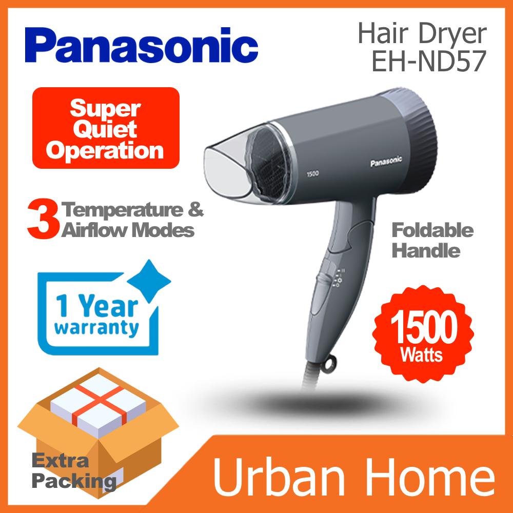 PANASONIC 1500w Super Quiet Foldable Hair Dryer (EH-ND57/EHND57)