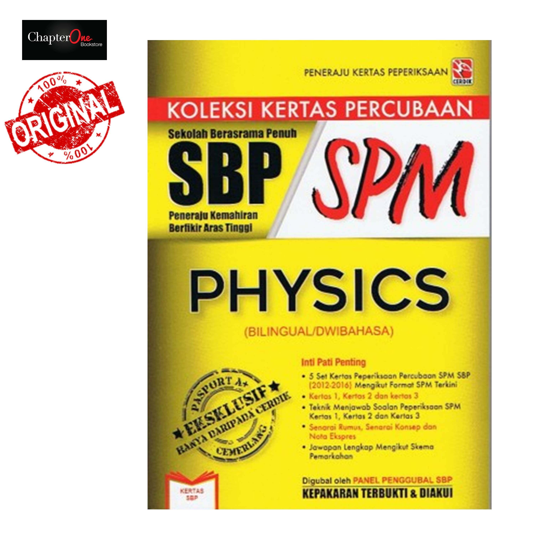 Koleksi Kertas Percubaan SBP SPM - Physics