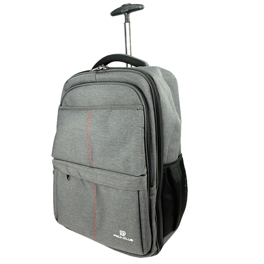 Poly-Club BN9930 18inch T-Bar Trolley Notebook Backpack-Grey