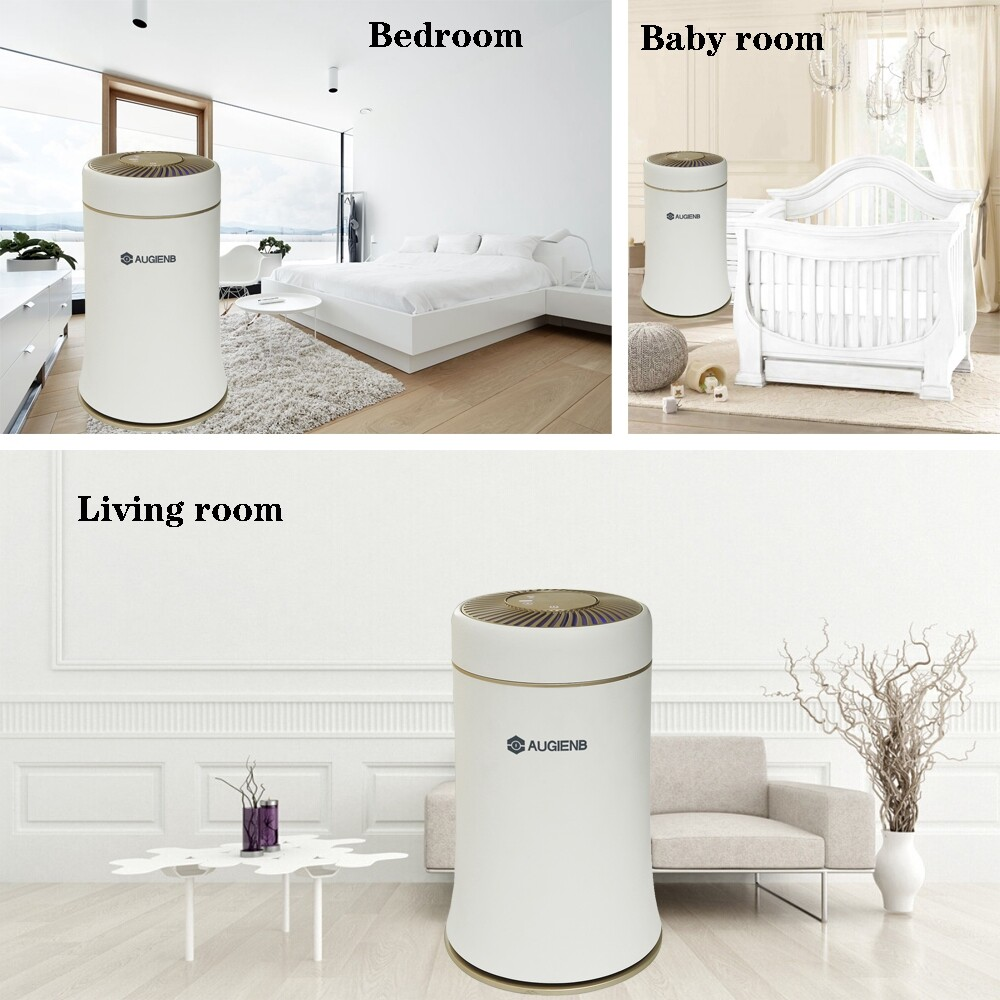 Humidifiers & Air Purifiers - Air Purifier Composite Filter Smoke Pet Smell Cleaner - WHITE US