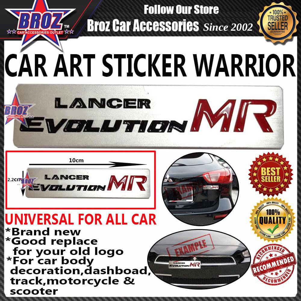 Lancer Evolution MR Car Art Sticker Warrior