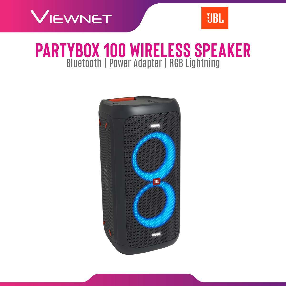 JBL Partybox 100 High Power Portable Wireless Bluetooth Audio System with RGB LED light, massive battery, JBL signature sound