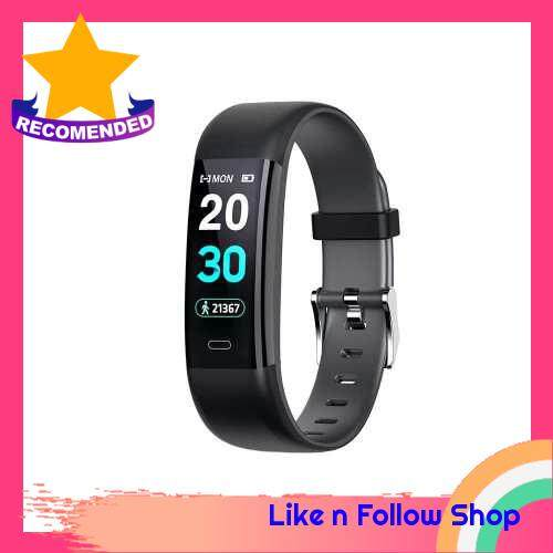 "0.96"" Smart Bracelet Blood Pressure & Heart Rate Monitor with Alarm Function Female Function IP68 Water-resistance Fitness Tracker Sport Bracelet Watch (Black)"