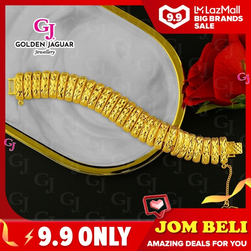 NEW GJ Jewellery Emas Bangkok Woman Bracelet Pulut Dakap - Gold Plated Caterpillar Kikir (BKK-2062002)