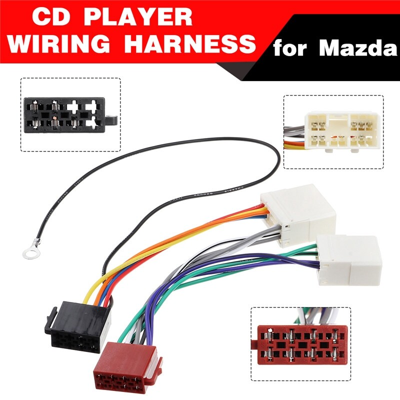 Car Stickers - For Mazda Car Stereo CD Player Wiring Harness Wire Adapter Radio Install Plug - Accessories