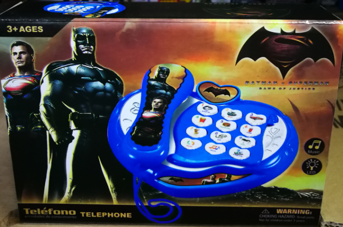 Kids Toy - Batman VS Superman Dawn Of Justice Learning Phone baby toys