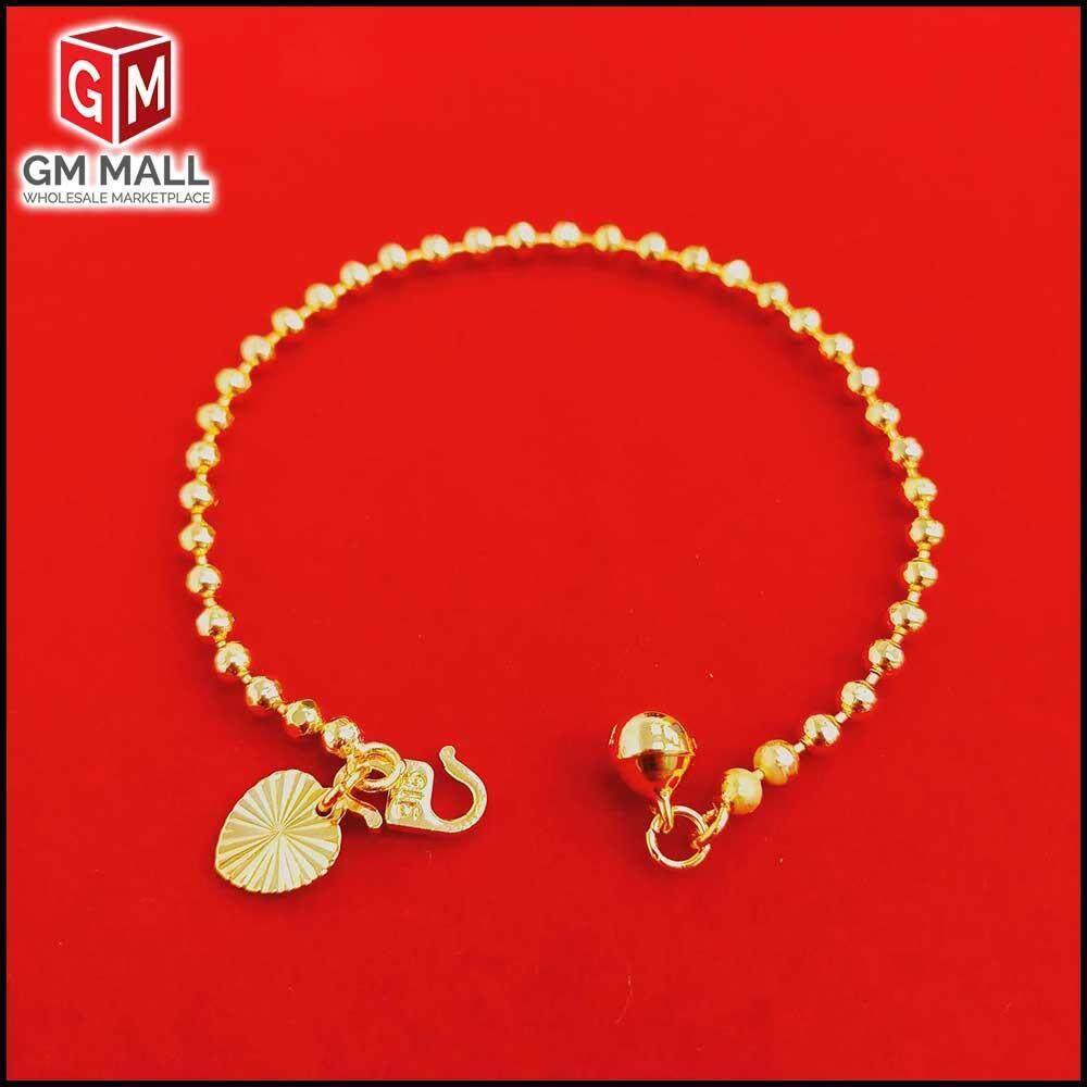 Emas Korea Jewellery - Gelang Tangan Biji Sawi Gold Plated ( EK-2040-6)