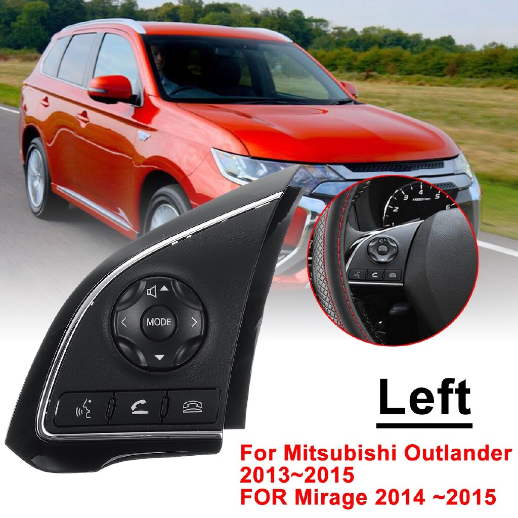Car Lights - Left Steering Wheel Radio Control Switch Button For Mitsubishi Outlander 132015 - Replacement Parts