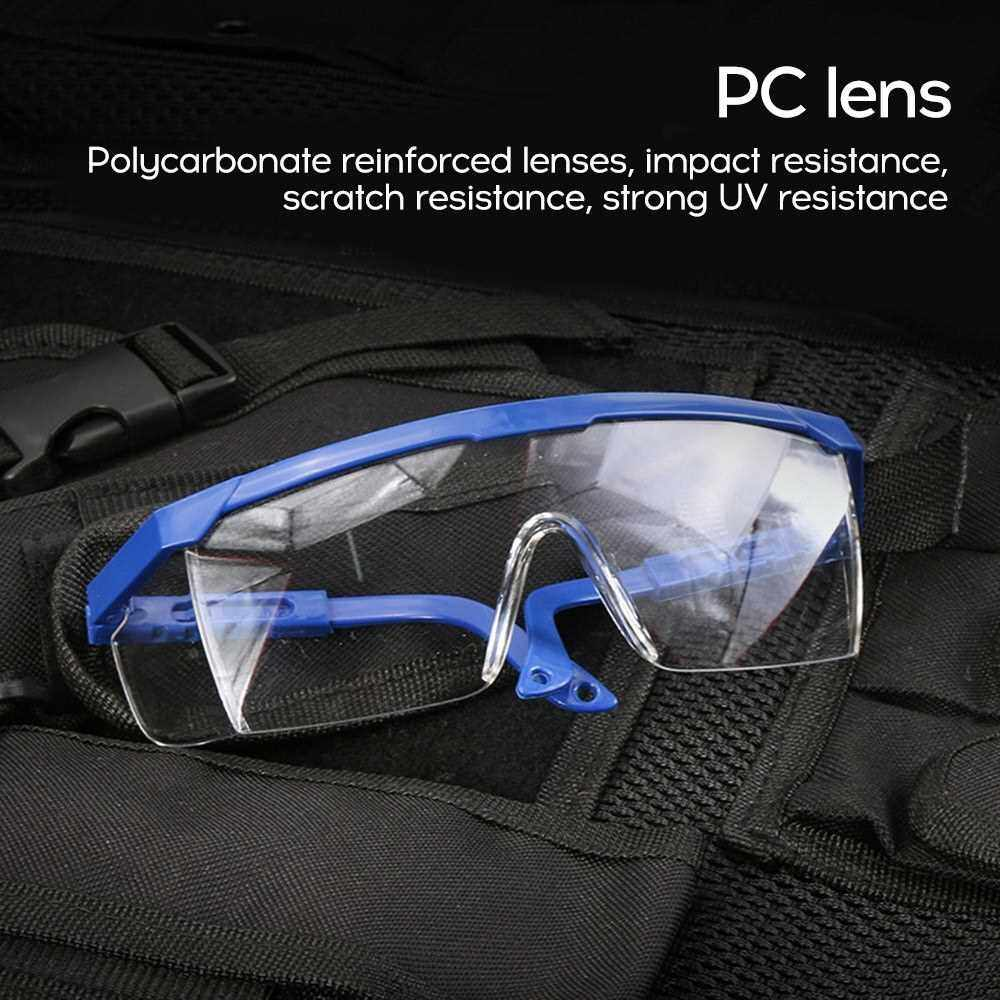 Best Selling Safety goggles saliva anti-splash droplets dust-proof protective glasses transparent men and women goggles Blue frame / transparency (Blue)