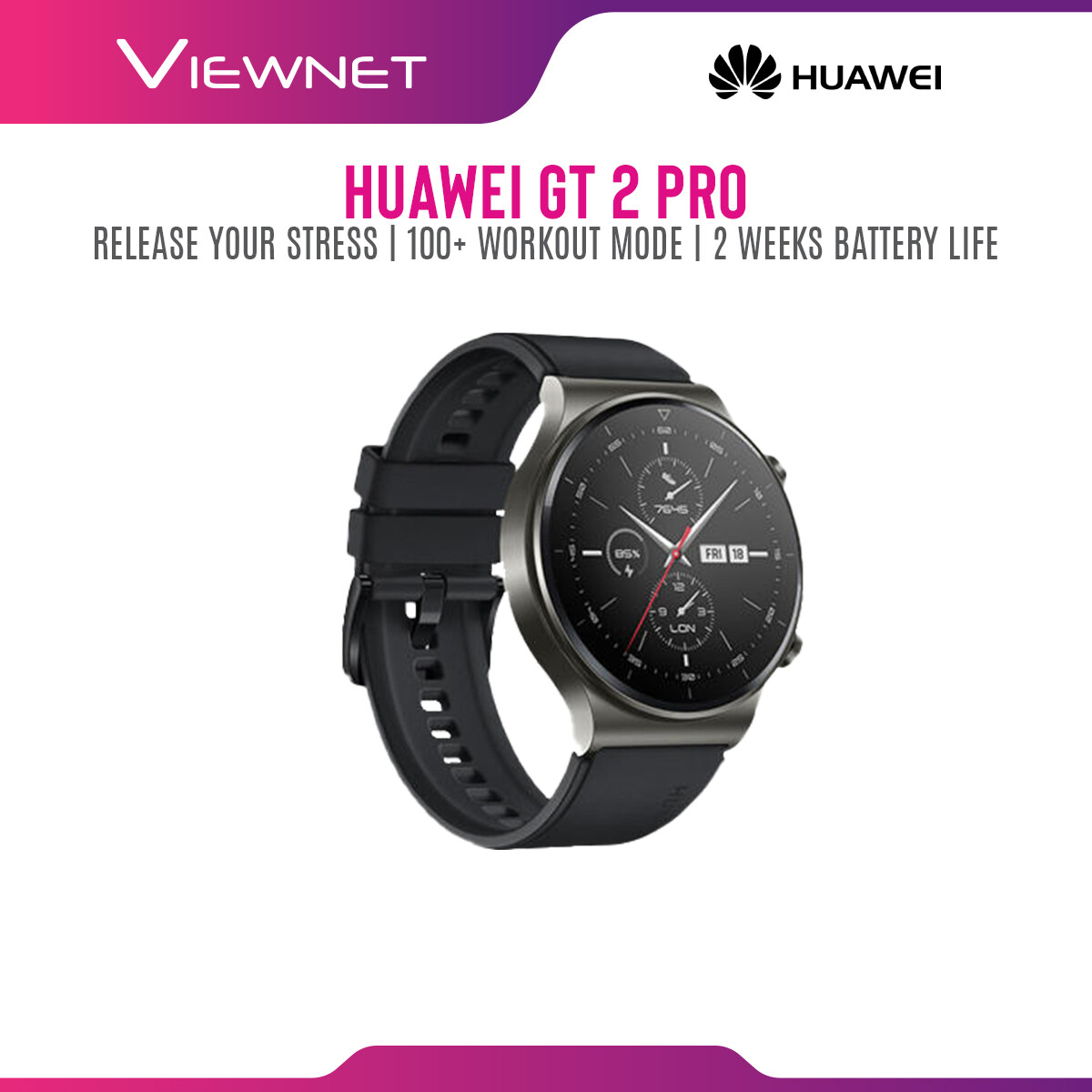 Huawei Watch GT 2 Pro / GT2 Pro Smartwatch [Answer Call  Music Playing  SPO2 Supported  100+ Workout Modes] 1 Year Warranty By Huawei Malaysia