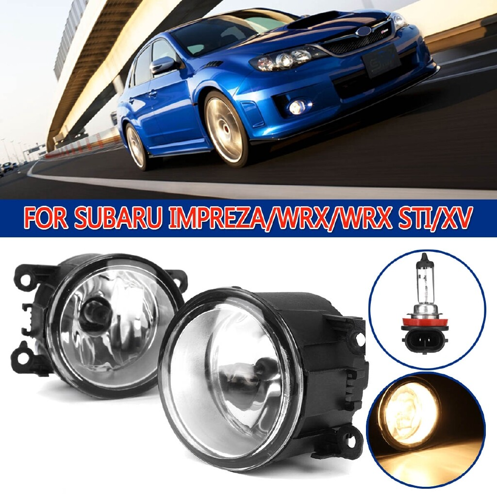 Car Lights - Pair Front Fog Light Clear Lens w/o Wiring Kit For Subaru Impreza/WRX/WRX STI/XV - Replacement Parts