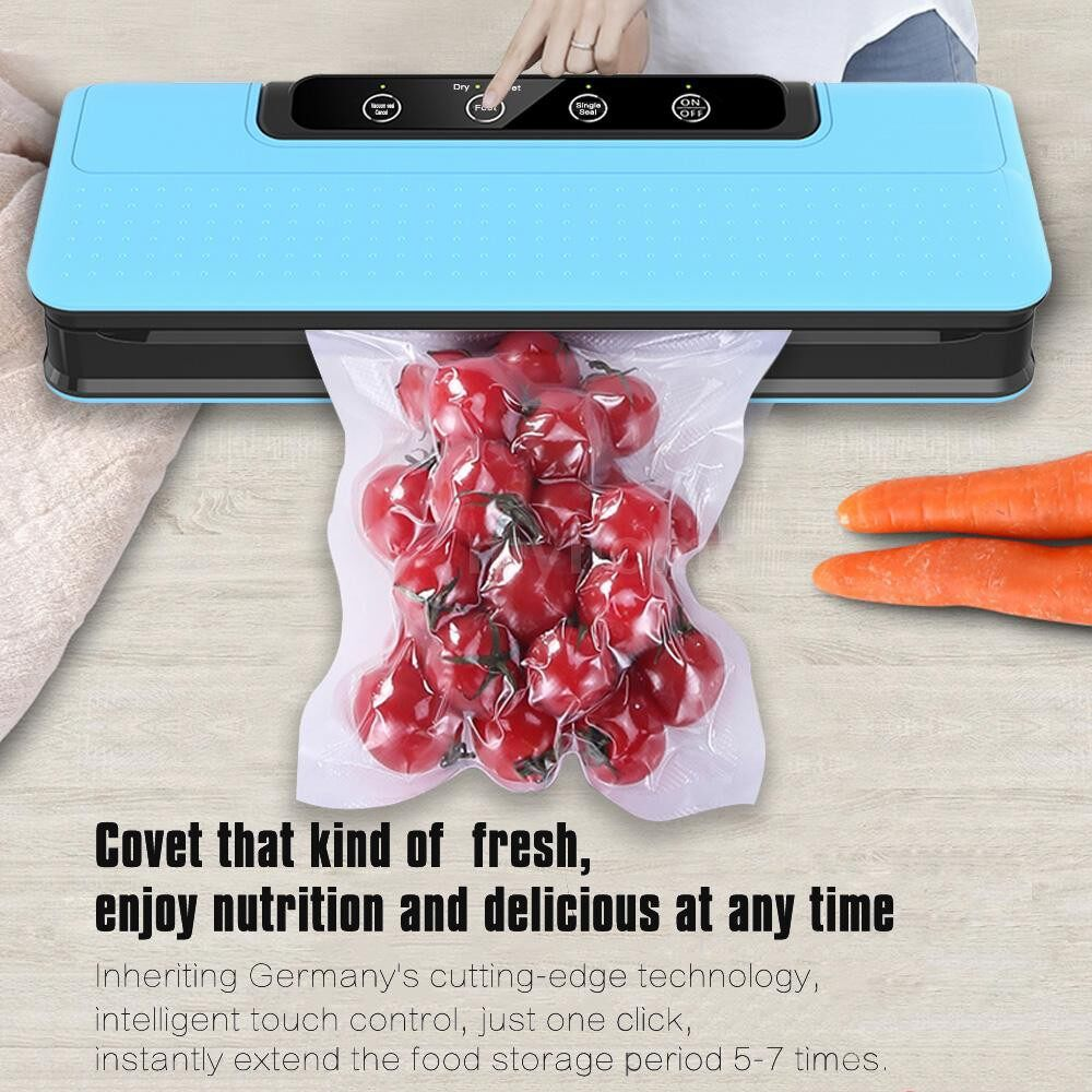 Small Kitchen Appliances - Household Vacuum Sealer Automatic Vacuum Sealing Machine for Wet & Dry Food Preservation Sous-Vide - Home