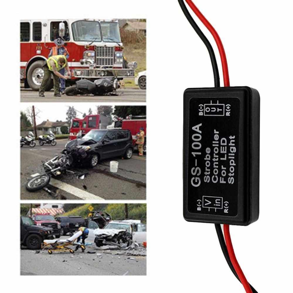 Best Selling Flash Strobe Controller Flasher Module Vehicle Car GS-100A LED Brake Stop Light Strobe for LED Brake Light Tail Stop Light (Standard)