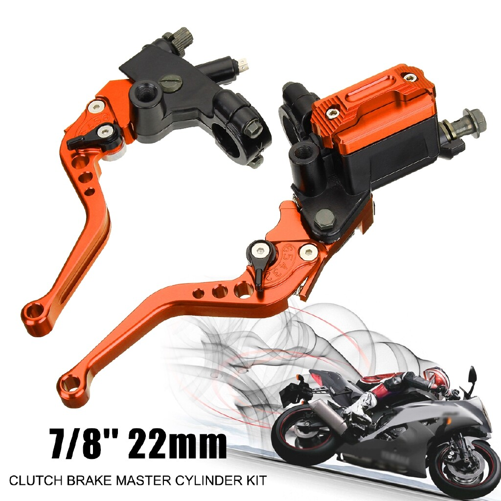 Moto Accessories - Motorcycle Brake Clutch Master Cylinder Cable Clutch Perch Fluid Reservoir - RED / BLUE / ORANGE / BLACK / GOLD