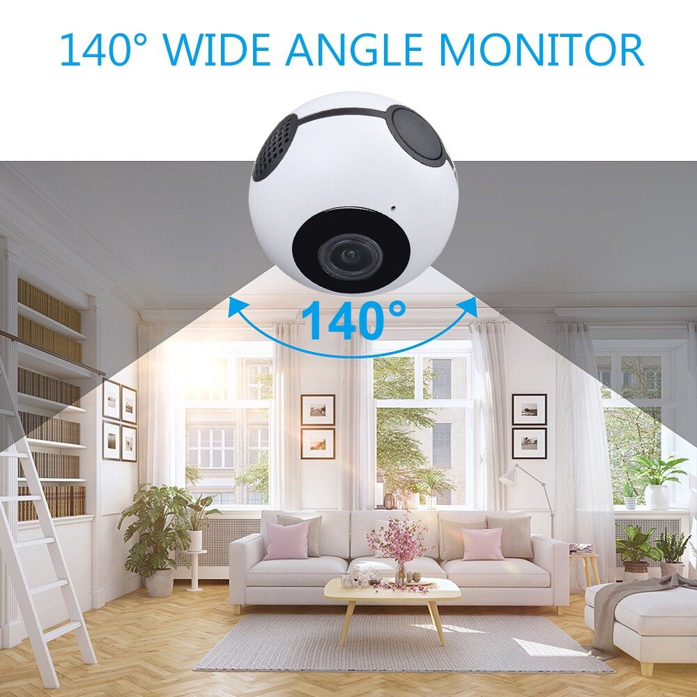 IP Security Cameras - MINI 360 HD 1080P WIFI WIRELESS IP Camera Camcorder Night Vision Home Security - WHITE / BLACK