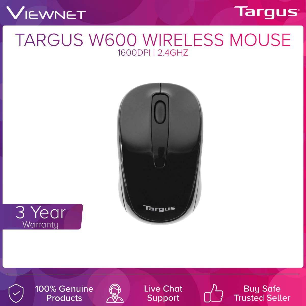 TARGUS WIRELESS OPTICAL MOUSE W600  1600DPI 2.4GHZ WITH USB RECEIVER