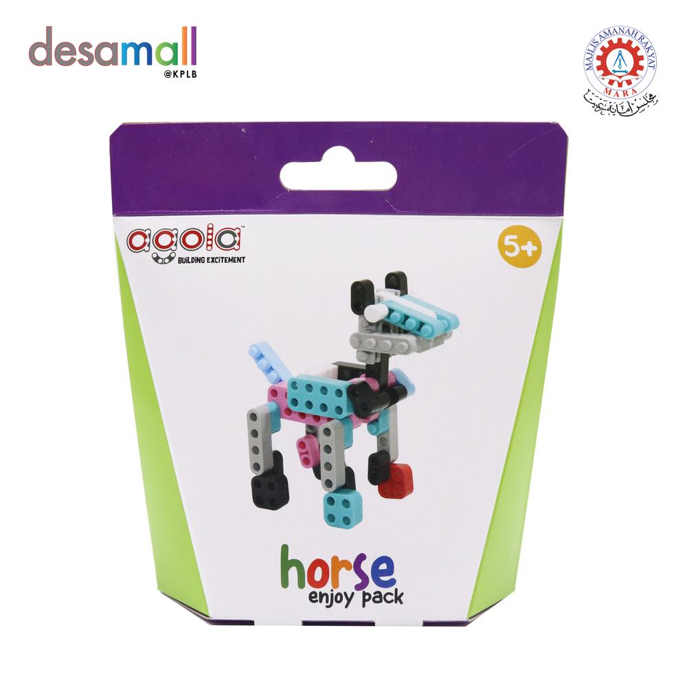 AGOLA Educational Building Block Toys Horse Enjoy Pack
