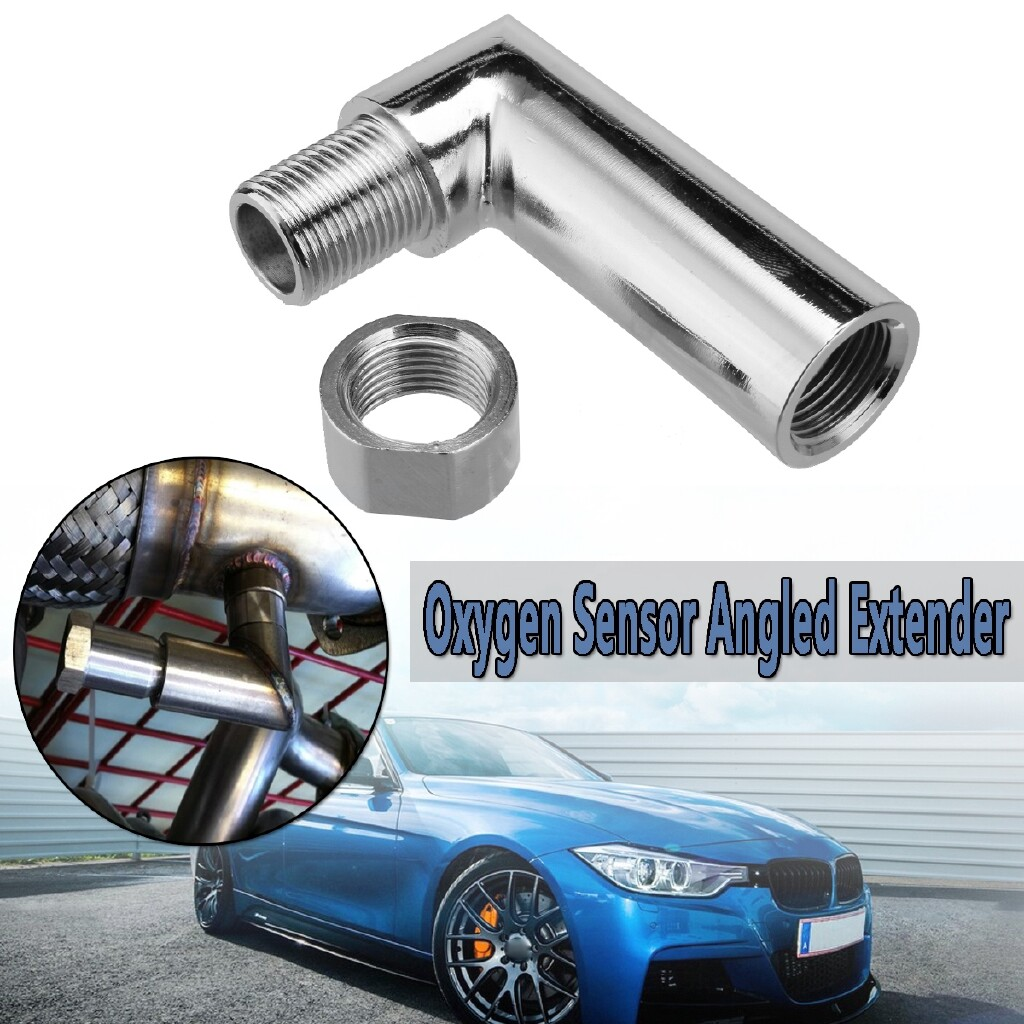 Vehicle Alarm Systems - M18 X 1.5 O2 oxygen sensor angled extender spacer 90 degree 02 bung extension - Car Electronics